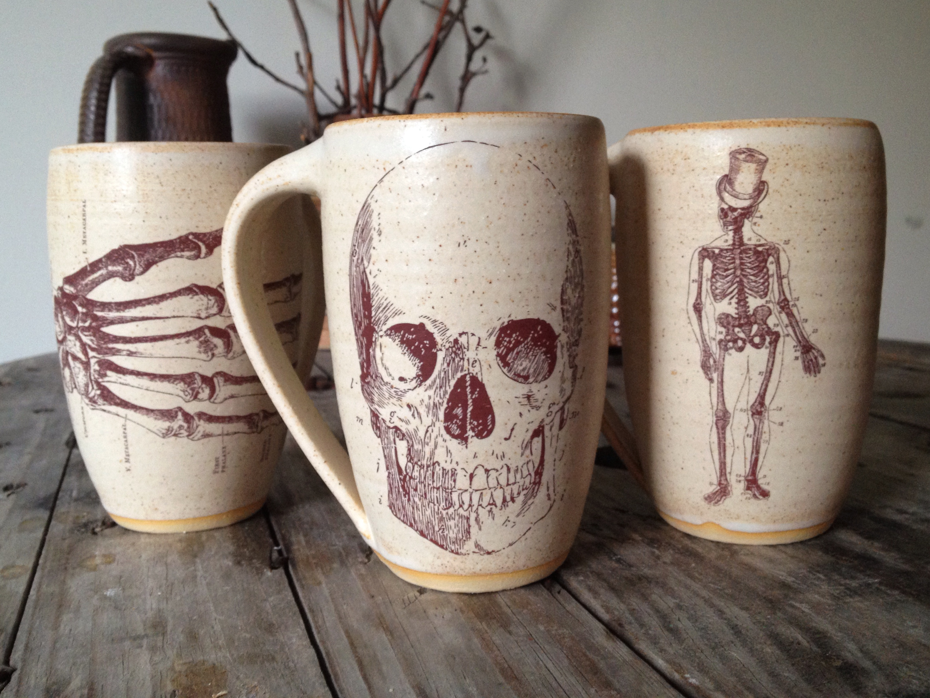 Jennifer Creighton's vintage medical illustration mugs.